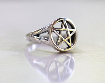 Sterling Silver Star Ring, Star Jewelry, Boho Ring, Gypsy Fashion, Wiccan Ring, Silmple Silver Ring