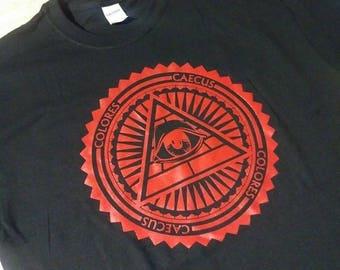 Hand Pulled Screen printed Pyramid Logo T-shirt