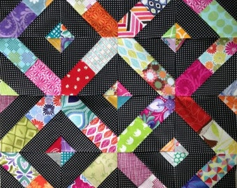 "Scrap Medley 3"" 4"" 5"" 6"" Paper Piecing Pattern for Sewing or Quilt Blocks PDF Instant Download"