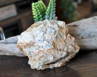 "1.1lb Raw Kyanite LARGE Specimen, Wiccan Altar Supplies, 5"" Blue Kyanite in Matrix, Rough Stone Specimen, Wicca Altar Supply, Healing Stone"