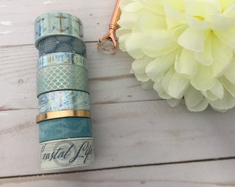 "Trendy Coastal  Washi Tape Samples | 24"" sample"