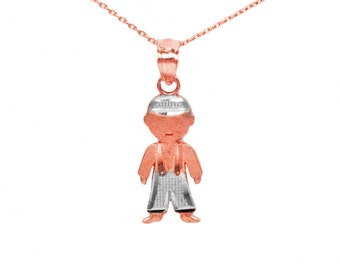 10k Rose and White Gold New Baby Necklace