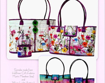ROCKPORT TOTES by Aunties Two Patterns - Paper Printed Pattern
