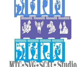 Hercules Bundle lanterne Design 02 coupe Silhouette MTC SCAL fichier Format de fichier SVG