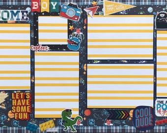 Awesome Boy, boy scrapbook page kit