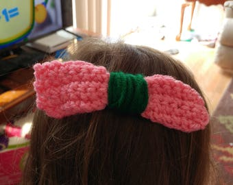 Two large Crochet hair bows