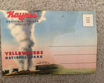 Yellowstone National Park Vintage Souvenir Folder Series C