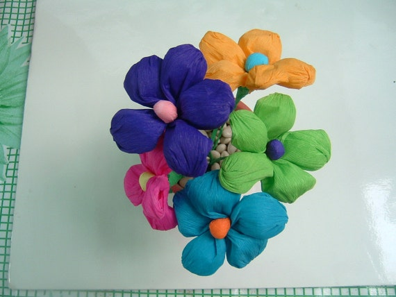 Mexican crepe paper handmade flowers from manosmias on etsy studio mightylinksfo