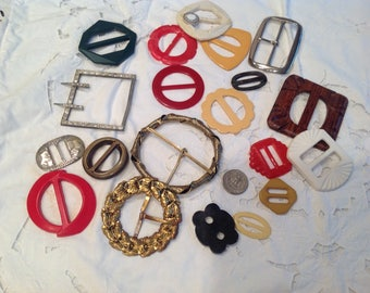 Vintage buckles, 20 assorted.   Group 2
