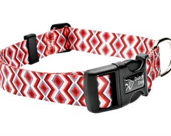 Ravishing Red Poppy Fashion Dog Collar - Made From Recycled Webbing
