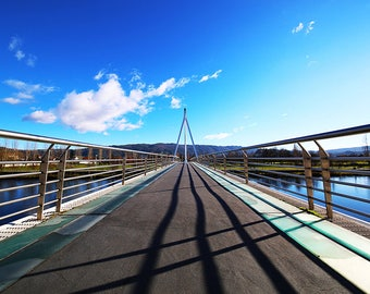 Bridge Perspective Photography, Vanishing Point Photography, Travel Photography, Architecture Industrial Photography