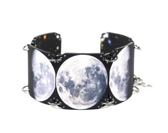 Moon Phase Bracelet Moon Bracelet Eclipse Bracelet Astronomy Bracelet Celestial Bracelet Lunar Bracelet Shrink Plastic