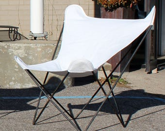 Mid Century Modern Original Vintage Knoll Wrought Iron Butterfly Chair 1950s