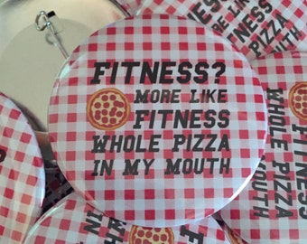 Fitness Pizza pin