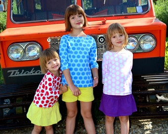 The Bateau Neck Top Sewing Pattern: Children's sizes 18m to 10 (PDF Digital Pattern)