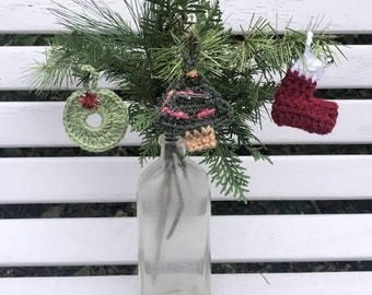 Christmas decorations, Xmas ornaments, Xmas decor, Xmas tree, crocheted Christmas ornaments, decorations for Xmas, tree ornaments, stocking