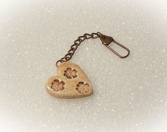 Paw Print Purse Chain Key Chain Jacket Clip Purse Clip Mirror Clip - 15071