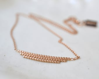 READY TO SHIP. S t e l l a .Vermeil or silver necklace. silver and rose gold