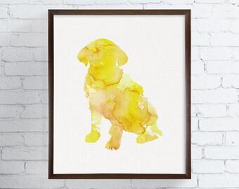 Watercolor Dog Print, Dog Print, Dog Painting, Dog Poster, Dog Wall Decor, Dog Wall Art, Dog Fine Art, Dog Home Decor, Labrador Art Print