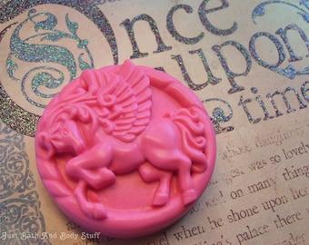 Pegasus Soap, Horse Soap, Round Soap, Novelty Soap, You pick scent & color