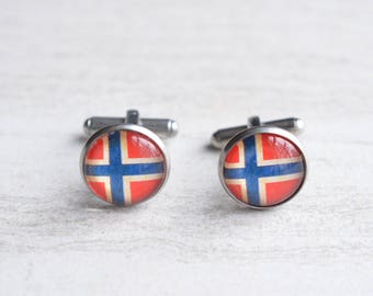Norway Flag Mens Cuff Links Groomsmen Gifts Wedding Gifts