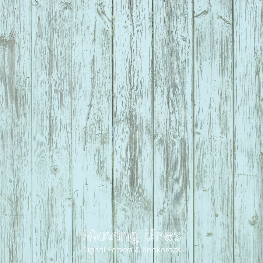 Light Blue Wood Digital Weathered Backdrop Grunge Wallpaper