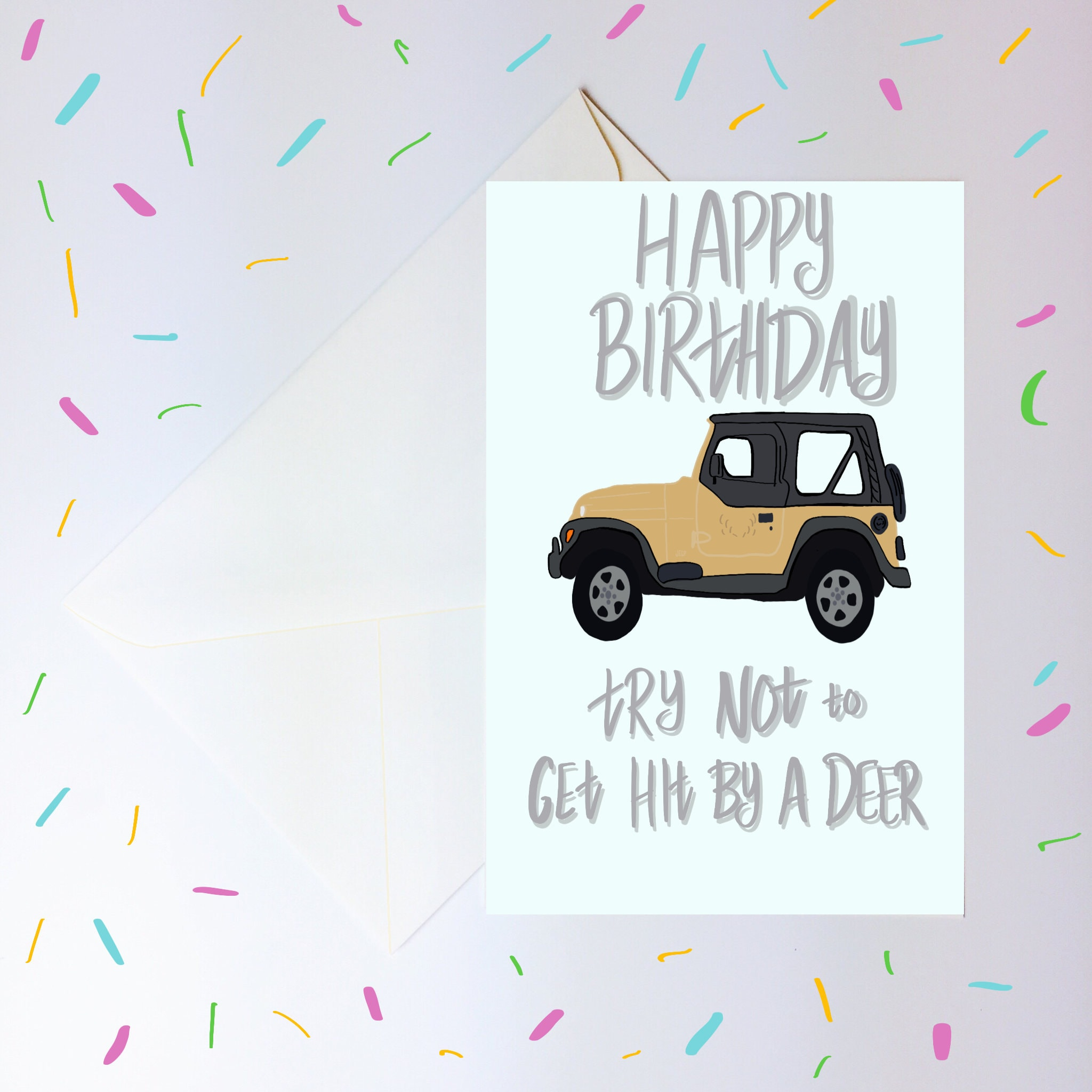 Gilmore Girls TV Show Printable Birthday Card Hit By A Deer