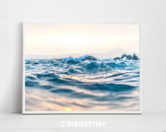 Beach Wall Art  Beach Print Ocean Decor Beach Art Ocean Art Beach Photography
