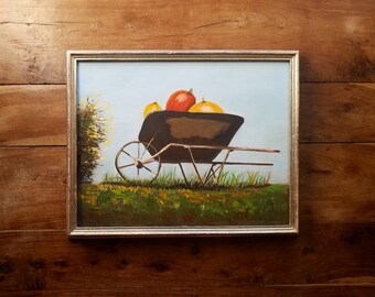 Vintage Oil Painting by Lita, Oil on Canvas, Mid Century Art, Original Art, Still Life Painting