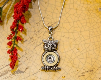 Bullet Casing Jewelry - Owl Bullet Necklace (410)