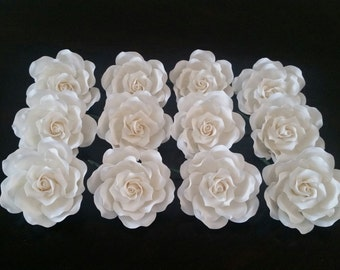 WHOLESALE: 12 Large Sugar Roses