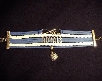 Love Royals baseball bracelet