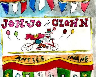Sideshow Jon-Jo the Clown - Print