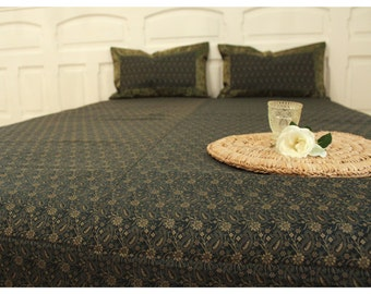 Rajasthan, Brokat Tagesdecke & zwei Kissenbezüge