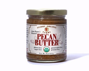 USDA Certified Organic Pecan Butter Hand Made Keto& Paleo Friendly, Sugar Free, No Preservatives  Only Organic Pecans and Sea Salt