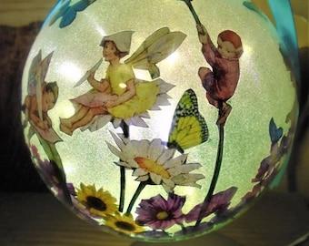 Fairy Gift, Fairy Night Light, Fairy Lover Gift, Fairy Bauble, Fairy Lamp, Gift For Her,  Birthday, Christmas, Fairy and Flowers