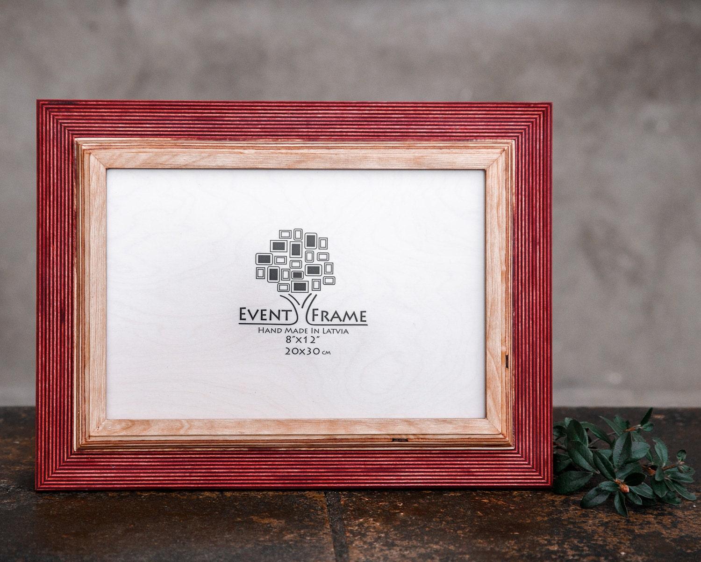 8x12 Picture frame, 20x30 cm Unique Wooden Rustic Design, Solid ...