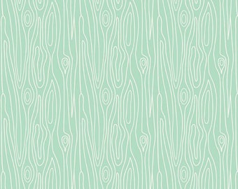 Marin Sutton - Good Natured - Natured Timber Mint By Riley Blake Designs Cotton Quilting Fabric by meter (1.1 yard)