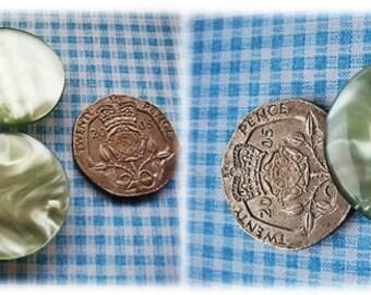 Soft Green 1960's Buttons