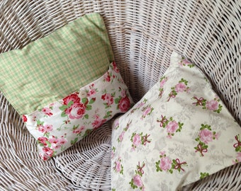 Romantic Pillow Case 35 x 35 cm in country house style
