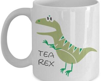 Tea Rex Funny  Mug Present Birthday Present Tealeaf Funny