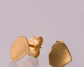 Tiny Gold Stud Earrings, Geometric Gold Stud Earrings, Gold Post Earrings, Gold Nugget Earrings, Minimalist Gold Earrings, Parched Earth