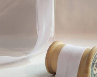20 mm cotton folded 10 DMC white jersey fabric