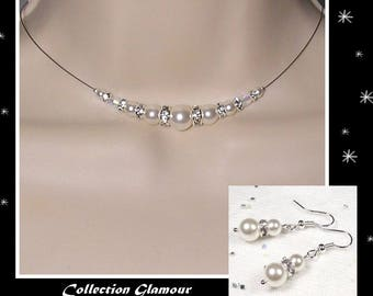 Set white Swarovski wedding - Glamour Collection - lily - wedding ceremony - wedding jewelry - bridal wedding gift idea