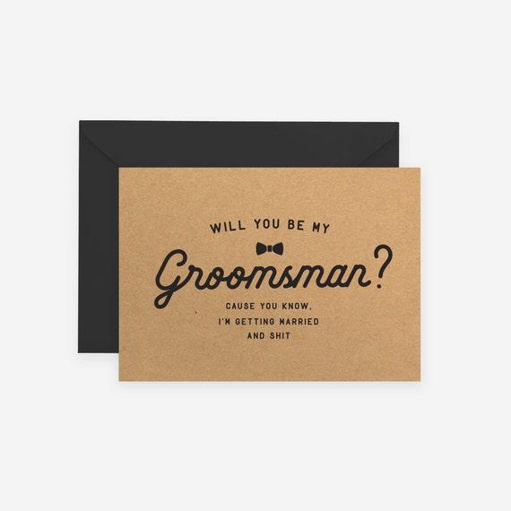 Will you be my groomsman best man groomsmen kraft rustic junglespirit Image collections