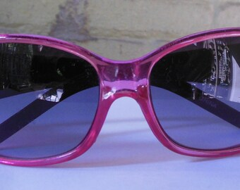 Vintage Pink Plastic Sunglasses from the 1990s Snowboarder Chick