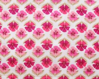 Liberty Tana Lawn fabric Miranda- Fat Eighth- 9'' x 26''-Purple