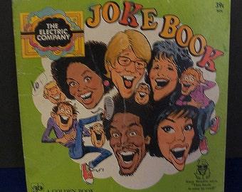The Electric Company 1973 Television Program Joke Book Children's Television  Workshop