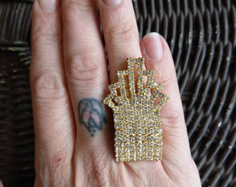 Large statement ring - art deco style
