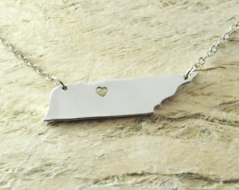 Tennessee  Necklace alloy 925 sterling silver necklace State Necklace  Map necklace  valentine gift girlfriend gift valentine necklace